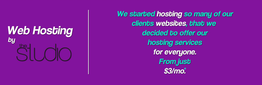 Web hosting by The Studio Banner
